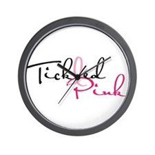 Tickled Pink on Light Wall Clock