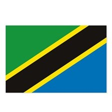 Tanzania Flag Postcards (Package of 8)