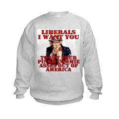 Anti Pinko Commie Liberals Sweatshirt