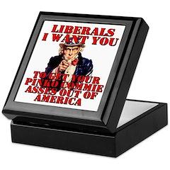 Anti Pinko Commie Liberals Keepsake Box