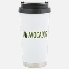 I Love Avocados Stainless Steel Travel Mug