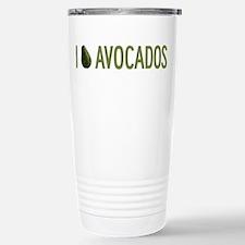 I Love Avocados Travel Mug
