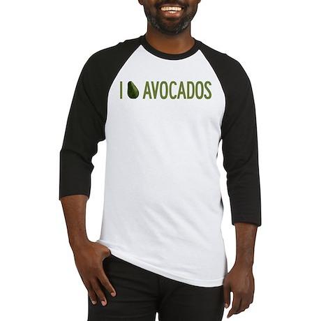 I Love Avocados Baseball Jersey