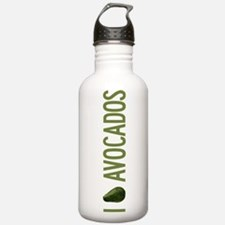 I Love Avocados Sports Water Bottle