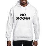 No Slogan Hooded Sweatshirt