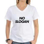 No Slogan Women's V-Neck T-Shirt