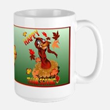 Thanksgiving Turkey and Autum Ceramic Mugs