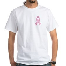 Pink Ribbon Breast Cancer White T-Shirt