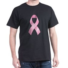 Pink Ribbon Breast Cancer Dark T-Shirt