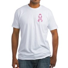 Pink Ribbon Breast Cancer Fitted T-Shirt