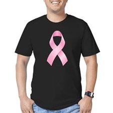 Pink Ribbon Breast Cancer Men's Fitted T-Shirt (da