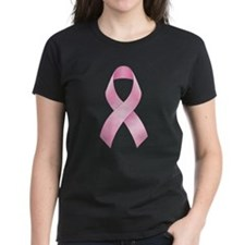 Pink Ribbon Breast Cancer Women's Dark T-Shirt