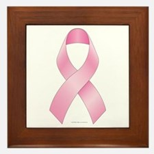 Pink Ribbon Breast Cancer Framed Tile