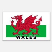 Welsh Flag (labeled) Decal