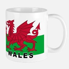 Welsh Flag (labeled) Mug