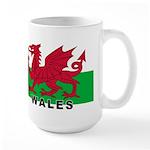 Welsh Flag (labeled) Large Mug