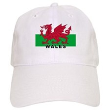 Welsh Flag (labeled) Baseball Cap