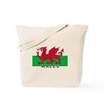 Welsh Flag (labeled) Tote Bag