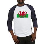 Welsh Flag (labeled) Baseball Jersey