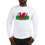 Welsh Flag (labeled) Long Sleeve T-Shirt