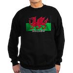 Welsh Flag (labeled) Sweatshirt (dark)