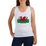Welsh Flag (labeled) Women's Tank Top
