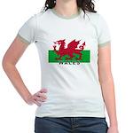 Welsh Flag (labeled) Jr. Ringer T-Shirt