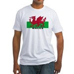 Welsh Flag (labeled) Fitted T-Shirt