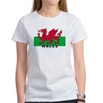 Welsh Flag (labeled) Women's T-Shirt
