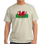 Welsh Flag (labeled) Light T-Shirt