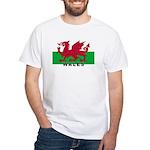 Welsh Flag (labeled) White T-Shirt