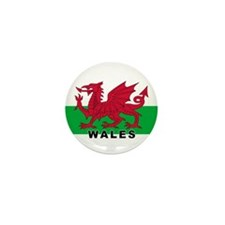 Welsh Flag (labeled) Mini Button (100 pack)