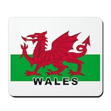 Welsh Flag (labeled) Mousepad