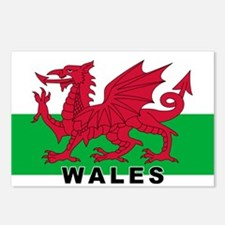 Welsh Flag (labeled) Postcards (Package of 8)