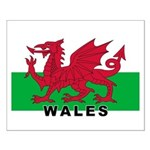Welsh Flag (labeled) Small Poster