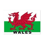Welsh Flag (labeled) Mini Poster Print