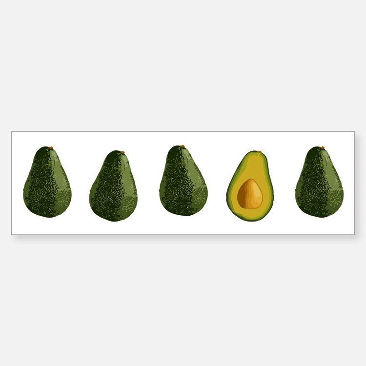 Avocados Bumper Bumper Sticker