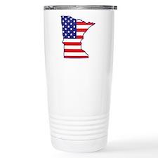 MN USA Flag Map 1 Travel Mug