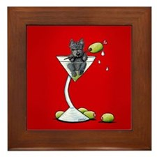 Scottish Martini Framed Tile