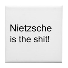 """Nietzsche Shit"" Tile Coaster"