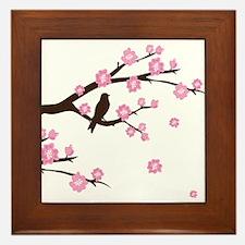 Cherry Blossoms Framed Tile