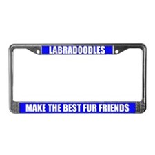 Best Friend Labradoodle License Plate Frame