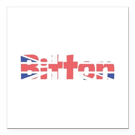 "Bitton Square Car Magnet 3"" x 3"""