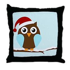 Holiday Owl Throw Pillow
