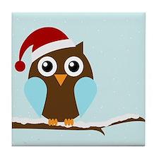 Holiday Owl Tile Coaster