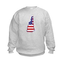 NH USA Flag Map 1 Sweatshirt