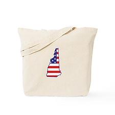 NH USA Flag Map 1 Tote Bag