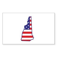 NH USA Flag Map 1 Decal