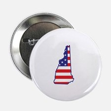 """NH USA Flag Map 1 2.25"""" Button (10 pack)"""