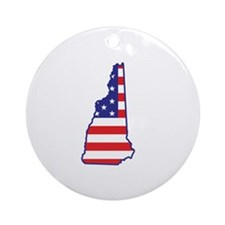 NH USA Flag Map 1 Ornament (Round)